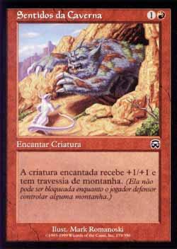 Magic the Gathering Máscaras de Mercádia 179 Sentidos da Caverna - Cave Sense - Comum - Vermelho