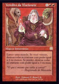 Magic the Gathering Máscaras de Mercádia 208 Veredito da Marionete - Puppet´s Verdict - Raro - Vermelho