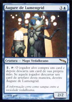 Magic the Gathering Mirrodin 039 Áugure de Lumengrid - Lumengrid Augur - Raro - Azul