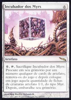 Magic the Gathering Mirrodin 212 Incubador dos Myrs - Myr Incubator - Raro - Artefato