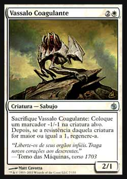 Magic the Gathering Mirrodin Sitiada 007 Vassalo Coagulante - Gore Vassal - Incomum - Branco
