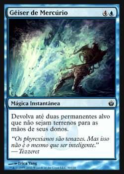 Magic the Gathering Mirrodin Sitiada 030 Gêiser de Mercúrio - Quicksilver Geyser - Comum - Azul
