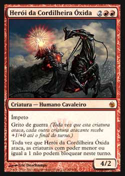 Magic the Gathering Mirrodin Sitiada 066 Herói da Cordilheira Óxida - Hero of Oxid Ridge - Mítico Raro - Vermelho