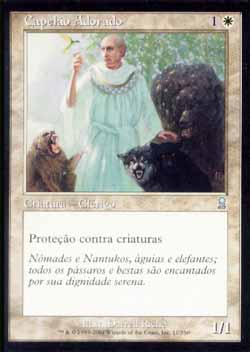 Magic the Gathering Odisséia 011 Capelão Adorado - Beloved Chaplain - Incomum - Branco