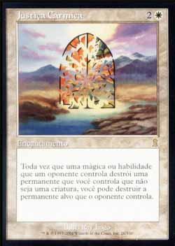 Magic the Gathering Odisséia 026 Justiça Cármica - Karmic Justice - Raro - Branco
