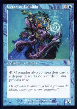 Magic the Gathering Odisséia 071 Corretor Cefálida - Cephalid Broker - Incomum - Azul - card em italiano