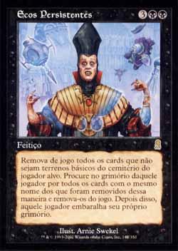 Magic the Gathering Odisséia 142 Ecos Persistentes - Haunting Echoes - Raro - Preto