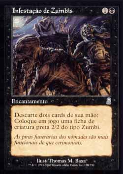 Magic the Gathering Odisséia 170 Infestação de Zumbis - Zombie Infestation - Incomum - Preto