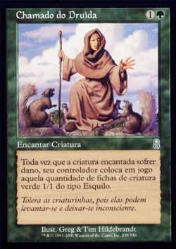 Magic the Gathering Odisséia 239 Chamado do Druida - Druid´s Call - Incomum - Verde