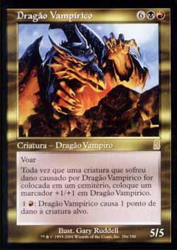 Magic the Gathering Odisséia 296 Dragão Vampírico - Vampiric Dragon - Raro - Multicor