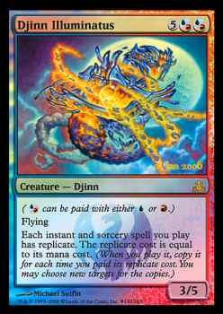 Magic the Gathering Pacto das Guildas 142 Gênio Iluminado - Djinn Illuminatus - Raro - Multicor - prerelease foil
