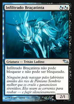 Magic the Gathering Pântano Sombrio 167 Infiltrado Braçatinta - Inkfathom Infiltrator - Incomum - Multicor