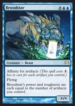 Magic the Gathering Planechase 008 Estrela Flutuante - Broodstar - Raro - Azul