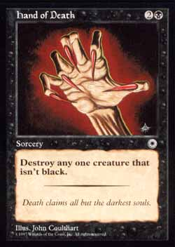 Magic the Gathering Portal 096 Mão da Morte - Hand of Death - Comum - Preto