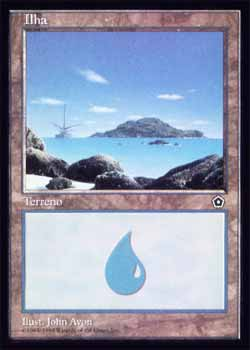 Magic the Gathering Portal 2 156 Ilha - Island - Comum - Terreno - Card em Espanhol