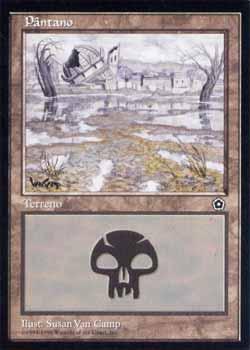 Magic the Gathering Portal 2 157 Pântano - Swamp - Comum - Terreno - Card em Português