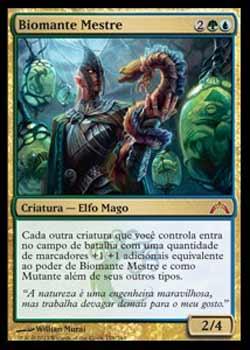 Magic the Gathering Portões Violados 176 Biomante Mestre - Master Biomancer - Mítico Raro - Multicor (autografado por Will Murai)