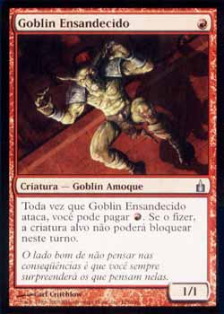 Magic the Gathering Ravnica 125 Goblin Ensandecido - Frenzied Goblin - Incomum - Vermelho