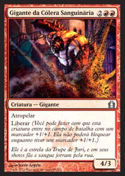 Magic the Gathering Retorno a Ravnica 089 Gigante da Cólera Sanguinária - Bloodfray Giant - Incomum - Vermelho