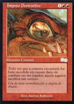 Magic the Gathering Saga de Urza 180 Ímpeto Destrutivo - Destructive Urge - Incomum - Vermelho