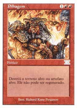 Magic the Gathering Sexta Edição 198 Pilhagem - Pillage - Incomum - Vermelho