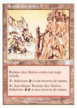 Magic the Gathering Sexta Edição 323 Ruínas dos Anões - Dwarven Ruins - Incomum - Terreno