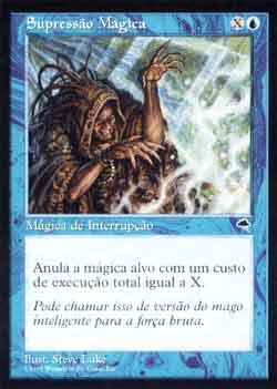 Magic the Gathering Tempestade 089 Supressão Mágica - Spell Blast - Comum - Azul
