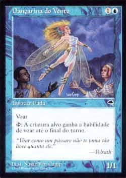 Magic the Gathering Tempestade 104 Dançarina do Vento - Wind Dancer - Incomum - Azul