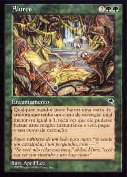 Magic the Gathering Tempestade 213 Aluren - Aluren - Raro - Verde