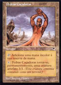 Magic the Gathering Tempestade 327 Pedras Caçadoras - Stalking Stones - Incomum - Terreno