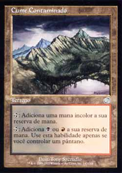 Magic the Gathering Tormento 142 Cume Contaminado - Tainted Peak - Incomum - Terreno