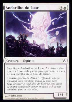 Magic the Gathering Traidores de Kamigawa 016 Andarilho do Luar - Moonlit Strider - Comum - Branco