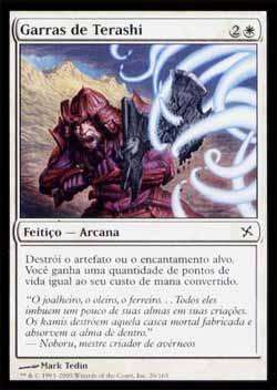Magic the Gathering Traidores de Kamigawa 026 Garras de Terashi - Terashi´s Grasp - Comum - Branco