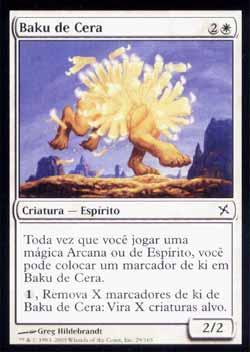 Magic the Gathering Traidores de Kamigawa 029 Baku de Cera - Waxmane Baku - Comum - Branco - Card em Chinês