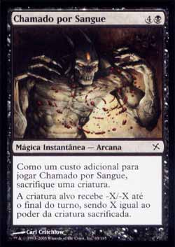 Magic the Gathering Traidores de Kamigawa 063 Chamado por Sangue - Call for Blood - Comum - Preto - Card em Chinês