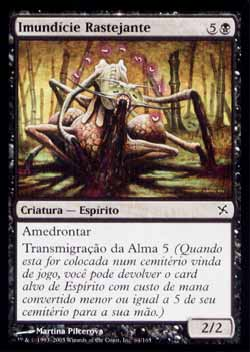 Magic the Gathering Traidores de Kamigawa 064 Imundície Rastejante - Crawling Filth - Comum - Preto