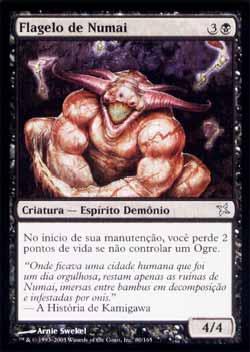 Magic the Gathering Traidores de Kamigawa 080 Flagelo de Numai - Scourge of Numai - Incomum - Preto