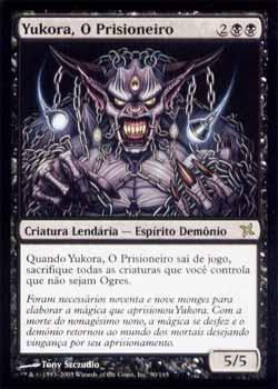 Magic the Gathering Traidores de Kamigawa 090 Yukora, O Prisioneiro - Yukora, the Prisoner - Raro - Preto