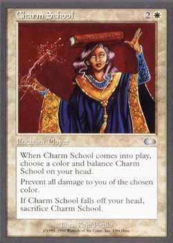 Magic the Gathering Unglued 001 Charm School - Incomum - Branco - Card em Inglês