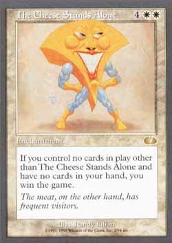 Magic the Gathering Unglued 002 The Cheese Stands Alone - Raro - Branco - Card em Inglês