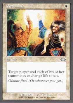 Magic the Gathering Unglued 004 Get a Life - Incomum - Branco - Card em Inglês