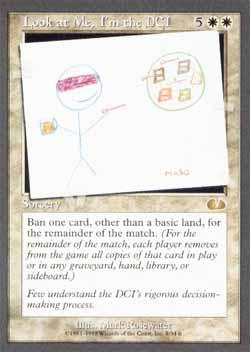 Magic the Gathering Unglued 008 Look at Me, I´m the DCI - Raro - Branco - Card em Inglês