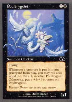 Magic the Gathering Unglued 037 Poultrygeist - Comum - Preto - Card em Inglês