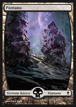 Magic the Gathering Zendikar 239 Pântano - Swamp - Comum - Terreno